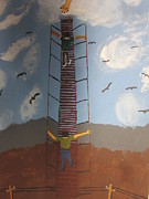 Stairs Painting Posters - Stairway To Heaven Poster by Jeffrey Koss