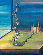 Stairway To Heaven Painting Posters - Stairway to Heaven Poster by Tanya Kimberly Orme