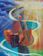 Stairway To Heaven Painting Originals - Stairway to Heaven by To-Tam Gerwe