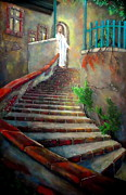 Southern Indiana Painting Posters - Stairway to Jesus Original Painting by Eric Drury Poster by Eric Dru Stephenz Drury