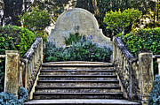 Stone Steps Posters - Stairway to Nowhere Poster by Kaye Menner