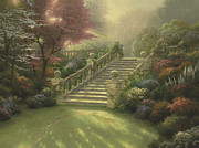 Paradise Framed Prints - Stairway to Paradise Framed Print by Thomas Kinkade