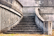 Stone Steps Posters - Stairway To The Unknown Poster by Sandra Bronstein