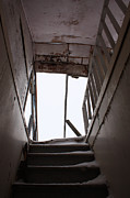 Rural Abandonment Framed Prints - Stairway to Where Framed Print by Larysa Luciw
