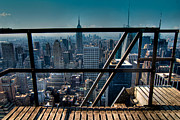 Stairways On Top Of Rockefeller Center Print by Amy Cicconi
