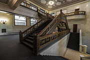 Michigan Art - Stairwell Chicago Cultural Center by Steve Gadomski