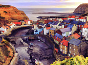 John Adams Prints - Staithes North Yorkshire Print by John Adams