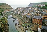 Staithes Yorkshire Uk 1980s Print by David Davies