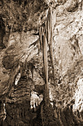 Best Sellers Prints - Stalactites and Stalagmites Print by Melany Sarafis