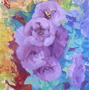Phyllis Rosenberg - Stalk of purple blooms