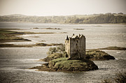 Castles Art - Stalker Castle vintage by Jane Rix