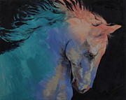 Olgemalde Framed Prints - Stallion Framed Print by Michael Creese