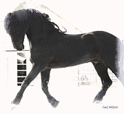 Friesian Posters - Stallion Stride Poster by Royal Grove Fine Art