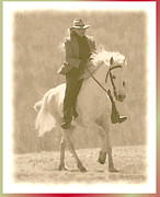 Rider With Hat Posters - Stallion Strides Poster by Patricia Keller