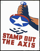 Stamp Out The Axis Print by Unknown