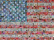 Stamps And Stripes Print by Gary Hogben