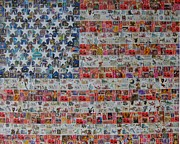 Stars And Stripes Mixed Media Posters - Stamps and Stripes Renegade Colony Poster by Gary Hogben