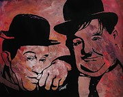 Team Paintings - Stan And Ollie by Jeremy Moore