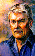Warm Colors Pastels - Stan Esson Self Portrait by Stan Esson