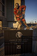 Nhl Hockey Framed Prints - Stan Mikita Sculpture Framed Print by Sven Brogren