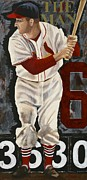 Baseball Painting Metal Prints - Stan Musial Metal Print by Terry Hester