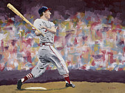 Batter Paintings - Stan the Man by Ron Gibbs