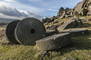 Wheels Pyrography Prints - Stanage Stones Print by Martin Hollingworth