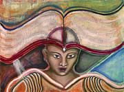 Visionary Artist Painting Prints - Stand in the Light Print by Annette Wagner