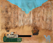 Iraq Mixed Media Prints - Stand-Off Print by Theo Koutalos
