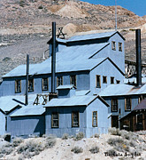 Old Town Digital Art Prints - Standard Mill At Bodie Print by Barbara Snyder