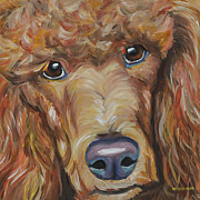 Standard Metal Prints - Standard Poodle Metal Print by Melissa Smith
