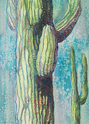 Saguaro Metal Prints - Standing By Metal Print by Sandy Tracey