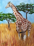 Plains Originals - Standing Giraffe by Debbie LaFrance