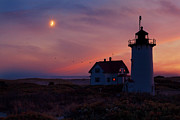 New England Lighthouse Prints - Standing Guard Print by Bill  Wakeley