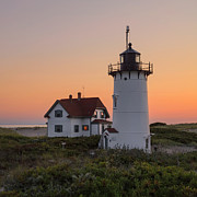 New England Lighthouse Prints - Standing Guard Square Print by Bill  Wakeley