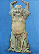 Buddhism Posters - Standing Happy Poster by Tom Roderick