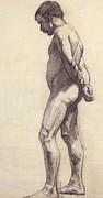 Standing Male Nude Print by Felix Edouard Vallotton