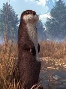 Daniel Eskridge - Standing Otter