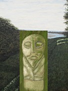 Surreal Landscape Mixed Media - Standing Stone by Patrick J Murphy