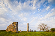 World Heritage Site Posters - Standing Stones Avebury Wiltshire Poster by Colin and Linda McKie