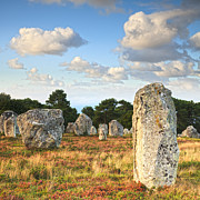 Autumn Landscape Prints - Standing Stones Carnac Brittany Print by Colin and Linda McKie