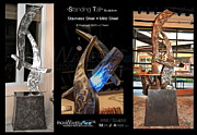 Aluminum Outdoor Sculpture Sculptures - Standing Tall by Mark Ansier