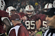 Football Coach Photos - Stanford Cardinal Ryan Hewitt Is Intense During A Time Out by Scott Lenhart
