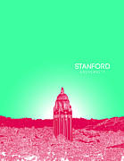 Fraternity Digital Art Posters - Stanford University Poster by Myke Huynh