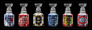 New York Rangers Art - Stanley Cup Original Six by Andrew Fare