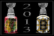 Boston Bruins Posters - Stanley Cup Playoffs 2013 Poster by Andrew Fare