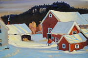 Kay Painting Originals - Stanley Kay Farm by Len Stomski