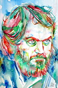 Kubrick Art - STANLEY KUBRICK watercolor portrait by Fabrizio Cassetta