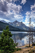 Stanley Lake View Print by Robert Bales