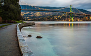 Burrard Inlet Metal Prints - Stanley Park Seawall View Metal Print by James Wheeler